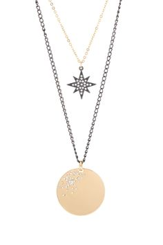 Dual Strand Star & Disc Necklace by Free Press Jewelry on @nordstrom_rack