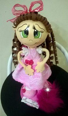 Boneca de EVA em 3D - Mª Luíza