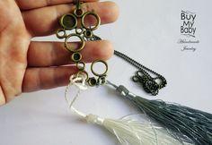 Ketten lang - AugustWolke Tassel (Quaste) lange Halskette - ein Designerstück von BuyMyBaby bei DaWanda