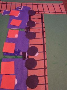 letter t train craft - use rectangles as it is our shape of the week