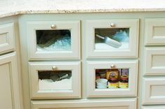 flour & sugar drawers, from Pioneer Woman's kitchen (Ree Drummond)