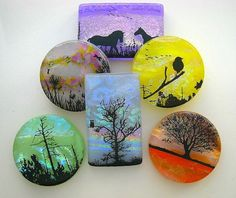 New Fusing Decals - Scenes of Nature Fusible Glass Decals DL-119 ...