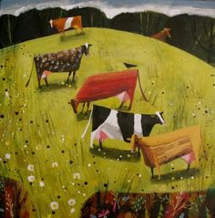 'Meadow Cows' by Mary Sumner