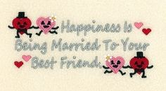 Happiness is Being Married - 5x7 | Wedding | Machine Embroidery Designs | SWAKembroidery.com Starbird Stock Designs