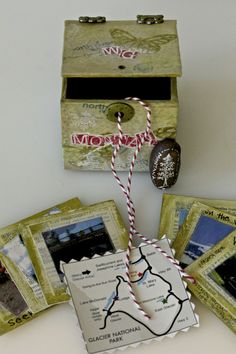 Vacation Memory Box Tutorial :From  Frog Dog's AWESOME July Mixed Media Kit