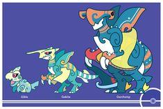 Pokemon #443-444-445 by Cosmopoliturtle