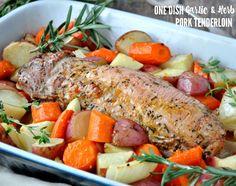 One Dish Garlic & Herb Pork Tenderloin - My Recipe Magic