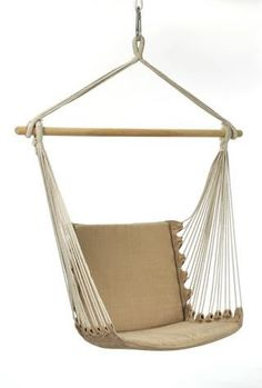Rope And Cushion Hanging Chairs