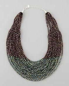 shopstyle.com: Nakamol Beaded Multi-Strand Necklace, Purple/Green