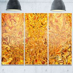 Textured Flowing - Abstract Art Glossy Metal Wall Art