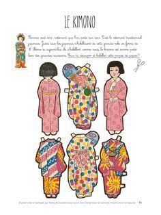 pdf - Page Art Japonais, Learn Art, Japanese Language, Continents, Geology, Games For Kids, Paper Dolls, Kindergarten, Crafts For Kids