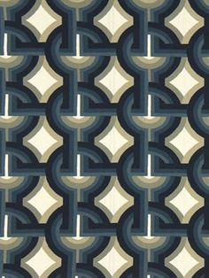 Modern Blue Upholstery Fabric Navy Gray Fabric by the Yard Contemporary on Etsy, $36.00