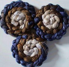 Roving for spinning luxury silk blends gradient by FiberArtemis