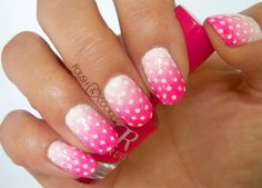 Neon pink obre nail tutorial! from http://polishcookies.blogspot.com/