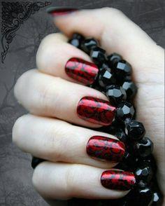 black diamond nail art