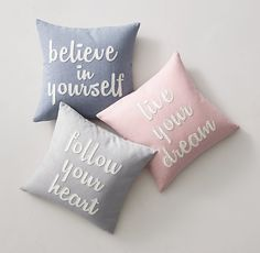 Inspiration Pillows from RH's new Teen Line - but let's face it, these could go anywhere in the home!