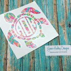 A personal favorite from my Etsy shop https://www.etsy.com/listing/387365758/yetirtic-sic-cup-decal-sea-turtle