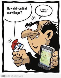 Gargamel trouve le village des Schtroumpfs - Gargamel found the Smurfs village Humor Videos, Memes Humor, Funny Cartoons, Funny Comics, Haha Funny, Funny Jokes, Humor Grafico, Just For Laughs, Really Funny