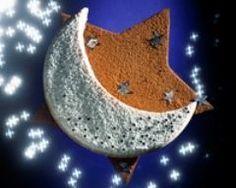 Gâteau au chocolat en forme d'étoile et de lune