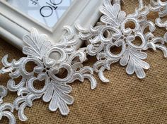VINTAGE-Style Wedding Bridal Venise Lace Trim in by lacelindsay