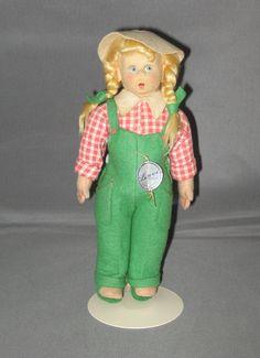 Lenci felt legs Gardening Girl #350/6  late 1940's
