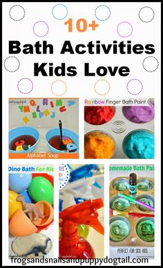 10+ Bath Activities Kids Love by FSPDT Simple ways to add a little extra fun to bath time!