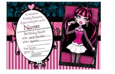 Free Printable Monster High Invitation-Draculaura