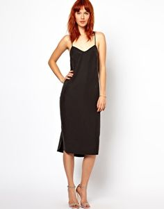 Ganni Slip Dress with Low Back in Cupro