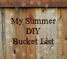 Ideas for a  summer DIY bucket list around the house