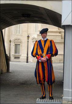 swiss Guard - Vatican, Vatican City http://www.travelbrochures.org/254/europa/travel-the-pious-vatican-city-for-a-getaway