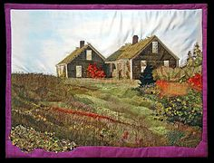 Laurie Swim is a talented Nova Scotian artist who uses the art of quilting to look like paintings.  Amazing!