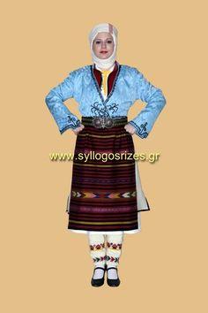 παραδοσιακή φορεσιά Πωγωνίου Ιωαννίνων - Πανελλήνιος Λαογραφικός Σύλλογος «ΟΙ ΡΙΖΕΣ» - Κατασκευάζουμε παραδοσιακές φορεσιές, χειροποίητα πλεκτά και υφαντά κεντήματα σε παραδοσιακούς αργαλειούς. Female Costumes, Costumes For Women, Greeks, Traditional, Movies, Movie Posters, Films, Film Poster, Cinema