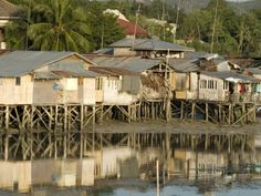 Stilt Houses By Old Port, Tagbilaran, Capital of Bohol, Philippines, Southeast Asia, Asia Photographic Print