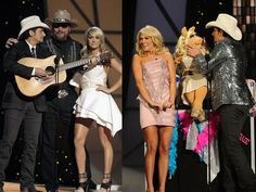Carrie Underwood at the CMA awards last night