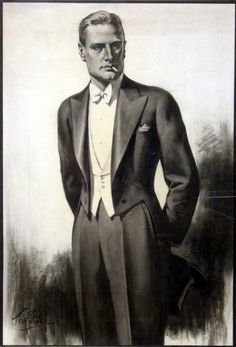 White tie and tails by Tom Purvis (1888-1959)...original design for Austin Reed circa 1930