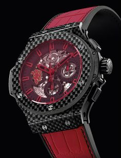 Hublot Aero Bang Red Devil 26 Closeup