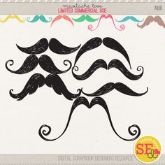 Mustache Love {CU}  #sugaryfancy #brushes #mustaches #doodles