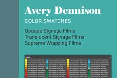Avery Dennison Color Swatches by hyriand on @creativework247