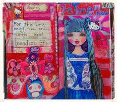 Art Journal page by Suzi Blu