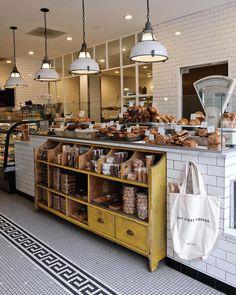 Tatte Bakery & ca Tatte Bakery & café Bakery Store, Bakery Display, Bakery Cafe, Cafe Display, Bakery Shop Design, Coffee Shop Design, Deco Restaurant, Restaurant Design, Cafe Interior Design
