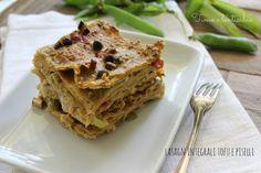 Lasagne integrali tofu e piselli