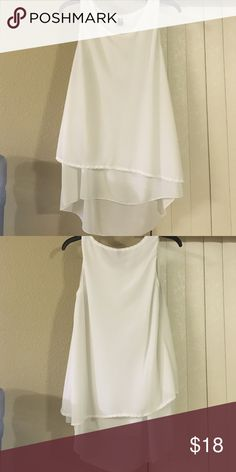 Gently used Top White Sleeveless Tunic Top Tops Blouses