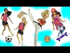 These Barbie dolls have all the moves. meet the most poseable Barbies ever! All these unique dolls have special joints so they can move like a real person! Barbie Puppy, Barbie Dolls, Shopkins Chef Club, Rainbow Dash Birthday, Shoppies Dolls, Shopkins Season 4, Cookie Swirl C, Set Honey, Made To Move Barbie