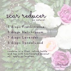 This natural scar removal treatment will help to reduce, fade and heal scars and stretch marks. Combine Frankincense, Helichrysum, Lavender and Sandalwood to create an essential oil roller bottle recipe. dōTERRA's Certified Pure Therapeutic Grade essential oils are guaranteed 100% pure, natural and safe. Learn more at www.bewell-happy.com.