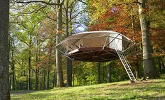 Dom'Up Suspended Treehouse Cabin | Cool Material
