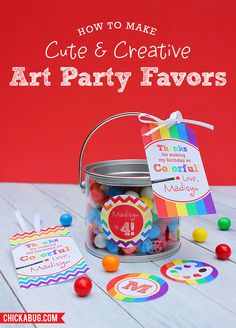 Easy and CUTE art party favors!