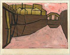 Tadashige Ono 1909-1990 - River - Kawa - artelino Art Auctions.