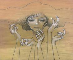 Audrey Kawasaki 1982   American painter   The women on wood
