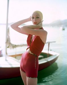 Lucinda Hollingsworth 50s swimwear Photo by Tom Palumbo