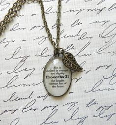 Proverbs 31 Bible Verse Necklace